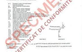 Qu'est-ce que le certificat de conformité